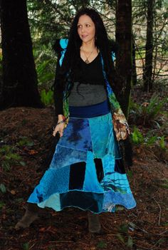 Gypsy Skirt, Patchwork Skirt, Mermaid Shades, Strapless Dress, Pixie Clothes, gypsy clothing, hippie skirt,