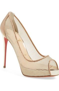 Christian Louboutin 'Very Rete' Mesh Peeptoe Pump available at #Nordstrom