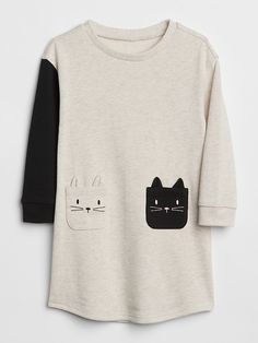 Short Sleeves T Shirt Kawaii Cat Eating Sausage Baby Girl Toddlers