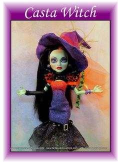 Monster Doll High Fashion Witch Repaint OOAK by Fantasydolls
