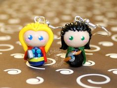 Thor Loki Earrings by KBelleC.deviantart.com