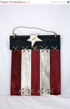 Christmas in July Flag, Plaque, Primitive, Americana. Ready to ship.