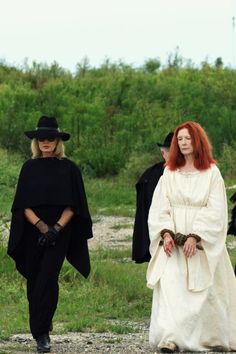 Jessica Lange as Fiona Goode and Frances Conroy as Myrtle Snow in AHS: Coven