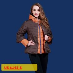 Thickening female design short cotton-padded jacket twinset womens winter thickening cap wadded jacket thick outerwear v118