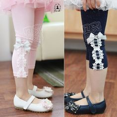 Aliexpress.com : Buy 2014 summer the appendtiff laciness girls clothing baby child knee length trousers legging kz 0837 on Kids Fashion Clot...