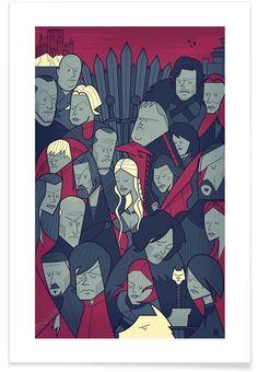Winter is coming als Premium Poster door Ale Giorgini | JUNIQE