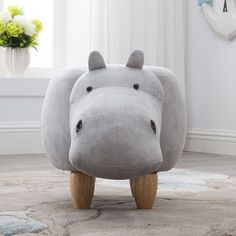 Home Furniture Objective Mini Cute Dinosaur-shape Creative Wooden Footstool Sturdy Storage Shoe Bench Sofa With Bronzing Fabric Wooden Legs 10 Color
