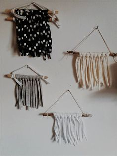 Mini Scandi wall hangings; simple yet striking. Using fabric yarn I picked up on my summer travels around Portugal with my family!  They work fabulously to break up a wall of picture frames or above a bedside table to give that boho vibe and sweet additions to nurseries and kids rooms.  Handmade with love and good vibes.  Please info me for combined postage as it is hard to set them via Etsy for the differing sizes of my items. I am always happy to accommodate accurate postage.  Love & light…