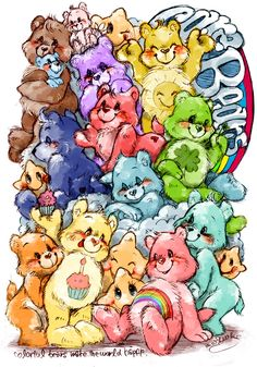 Care Bears (1985-1988) | Who's that comin' from somewhere up in the sky? | Artwork by Rina [©2010]
