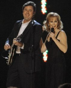 Country Music legends Vince Gill and Reba McEntire
