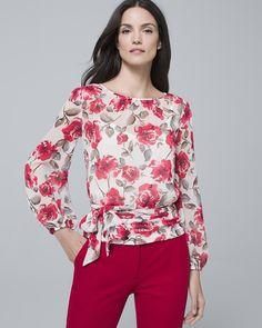 a5d037cfe5720 Women s Floral-Print Blouse by White House Black Market Wardrobe Staples