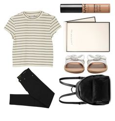 """""""Chemistry+Quantum Physics"""" by sweet-jolly-looks ❤ liked on Polyvore featuring Monki, STELLA McCARTNEY, Ancient Greek Sandals, NYX and Yves Saint Laurent"""