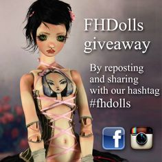 UPDATED! NEW SOCIAL MEDIA ADDED: We feel happy to have our FIRST #FHDolls giveaway.  Check www.Facebook.com/fhdolls for rules.