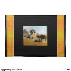 Egyptian Placemat #Egypt #Egyptian #Desert #Camel #Africa #Pyramid #Home #Placemat