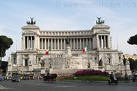 Take the elevator up the National Monument of Victor Emmanuel II (in Piazza Venezia and also commonly referred to as the Wedding Cake building) and take in a stunning panoramic view of the city