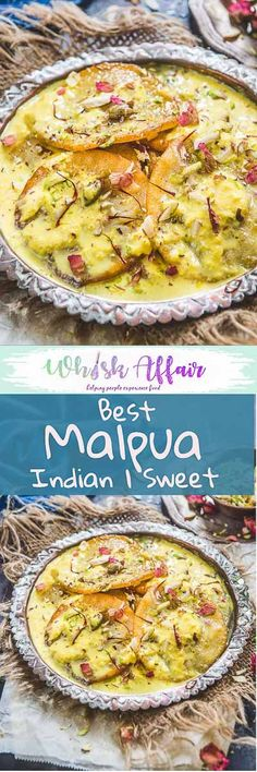Malpua is a traditional Indian sweet from Rajasthan which is basically a fried pancake dunked in sugar syrup. Here is How to make Malpua. Easy Indian Dessert Recipes, Healthy Indian Recipes, Easy Meat Recipes, Beef Recipes For Dinner, Indian Desserts, Indian Sweets, Indian Snacks, Baked Chicken Recipes, Indian Dishes