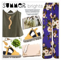 """""""Summer Brights"""" by teoecar ❤ liked on Polyvore featuring Dolce&Gabbana, Rizzoli Publishing, Strategia, Charlotte Olympia and summerbrights"""