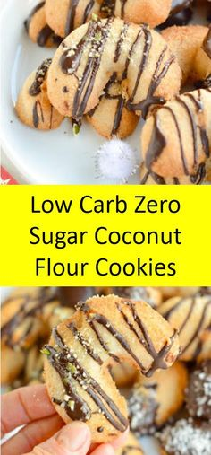 Low Carb Zero Sugar Kokosmehl Kekse >>> 20 Easy Low Carb Keto Kekse # Source by wiciaree Keto Cookies, Cookies Healthy, Coconut Flour Cookies, No Flour Cookies, Brownie Cookies, Chip Cookies, Low Carb Sweets, Low Carb Desserts, Low Carb Recipes