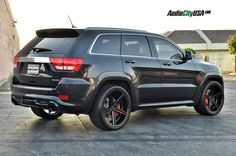 Gianelle Lucca matte black 22'' on 2013 Jeep Grand Cherokee SRT-8 :: Jeep Grand Cherokee :: Jeep :: Delux Wheels - Delux Wheels