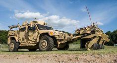 Barbarian mine clearance attachment。イギリスのDVD2014なるイベントに関係して展示されたアタッチメントの一つ。地上車両に取り付けて使うことが出来るとされる。地雷処理に対応する。