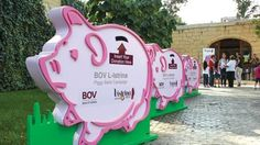 Giant piggy bank for donations, could make it clear & see-through