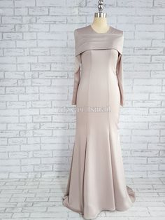 Assalamualaikum Hello everyone Alhamdulillah Subhanallah Allahuakbar 💗 Sooooo today post i'm going to share with you my notes on how. Winter Dress Outfits, Casual Summer Dresses, Trendy Dresses, Nice Dresses, Grey Party Dresses, Brown Bridesmaid Dresses, Dress Party, Long Dress Patterns, Dress Sewing Patterns