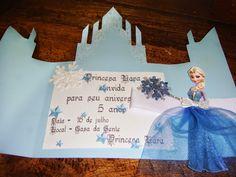 Objetos by Déa: Convite para festa infantil - CASTELO DISNEY FROZEN