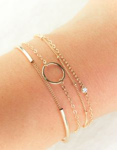 Layering Bracelets My favourite way to wear decorate my wrists... Bracelet on top of bracelet, add a watch. Perfection!