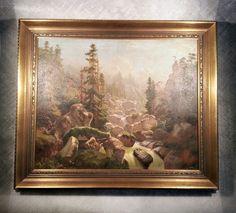 Der Kunst Blog: Fantastisches antikes Ölgemälde mit romantischem M...