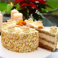 Almond & Cinnamon Torte - Layers of almond sponge and cinnamon cream.  The recipe is now on my website.