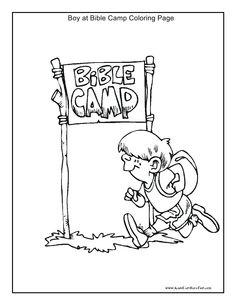 Boy At Bible Camp Coloring Page Kidscanhavefun