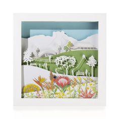 Framed Paper Sculpture: Kirstenbosch Tapestry, Sculpture, Paper, Frame, Artwork, Animals, Home Decor, Hanging Tapestry, Picture Frame