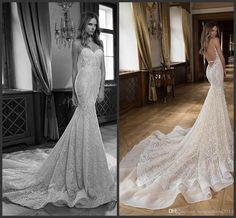 2016 Berta Vintage Lace Wedding Dresses Sexy Backless Court Train Sexy Mermaid Spaghetti Beaded Custom Made Plus Size Bridal Gowns Beach Wedding Gowns Crystal Weeding Dress Berta 2015 Bridal Gowns Online with 202.0/Piece on Magicdress2011's Store | DHgate.com