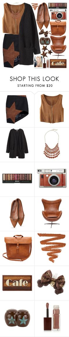 """""""Spices"""" by grozdana-v ❤ liked on Polyvore featuring Anthony Vaccarello, H&M, Lucky Brand, Lomography, Dot & Bo, Kevyn Aucoin and Universal Lighting and Decor"""