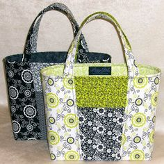 Claire Handbag Pattern by Lazy Girl Designs Bag Pattern Free, Wallet Pattern, Bag Patterns To Sew, Tote Pattern, Purse Patterns Free, Sewing Patterns, Handbag Patterns, Sacs Tote Bags, Quilted Tote Bags