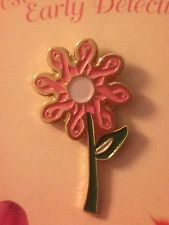 Ribbon Flower Pink Ribbon Breast Cancer Awareness Metal Lapel Pin Hat Pin