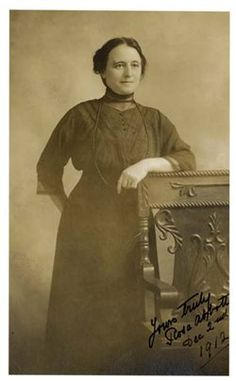 This is Rosa Abbott, a Third Class passenger on Titanic. Rosa was the only woman to be pulled alive from the icy waters on that fateful night. She was travelling on Titanic with her sons, Rossmore, aged 16, and Eugene, aged 13. When the ship sank, she was pulled into collapsible Lifeboat A. Her sons did not survive.