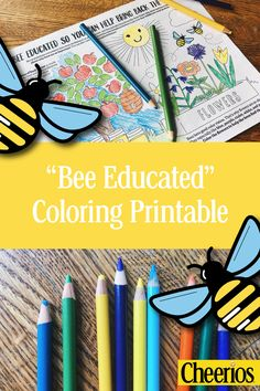 Click For Free Save The Bees Coloring Printable Kids