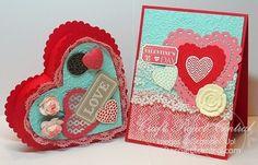 Valentine Heart Box & Card! www.CraftProjectCentral.com