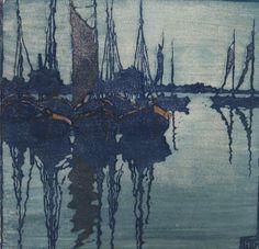 Wimpelkette - Farbholzschnitt - Tüpke-Grande, Helene (1871-1946)