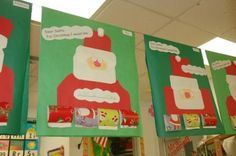 Santa's with wrapping paper flap- under flap is what child wants for xmas