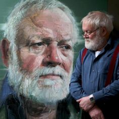 Michael Longley in the studio after the final sitting. Colin Davidson