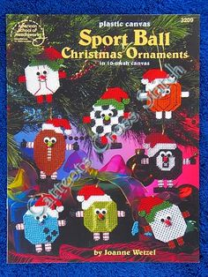 Free Plastic Canvas Ornaments | Plastic Canvas Pattern Sports Ball Christmas Ornaments | eBay