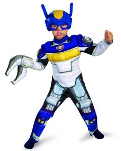 Disguise Boy's Transformers Chase Rescue Bots Toddler Muscle Costume, 3T-4T | DiyHalloweenDepot.com  -- #HalloweenCostumesForBoys