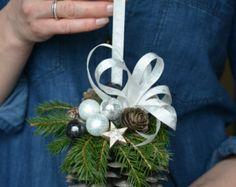 Grande pino cono fresco abete natale ornamento di FlowerinasDecor
