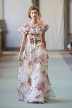 Luisa baccaria. Love the print. Jury's out on the corset.