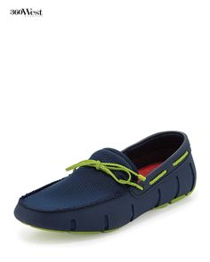 """Swims are waterproof loafers by Norwegian designer Johan Ringdal, known as the """"modern galoshes,"""" 360 West Magazine, June 2014 #swims #shoes #waterproof #summershoes"""