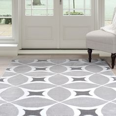 Liven up your living space with this contemporary Geometric Area Rug. Cover up any blemishes in your carpet or make your hardwood floors feel cozy with the soft and luxurious feel of an area rug. Prim