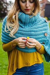 Cowl Neck Poncho by Liz Ward | Inside Crochet Magazine, issue 71 - Blog | Inside Crochet