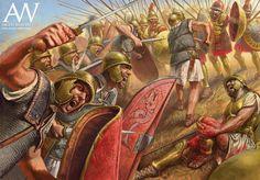 The Battle of Cynoscephalae Roman Legion vs Mecedonian Phalanx Ancient Rome, Ancient Art, Ancient History, Military Art, Military History, Punic Wars, Roman Legion, Greek Warrior, Roman Republic